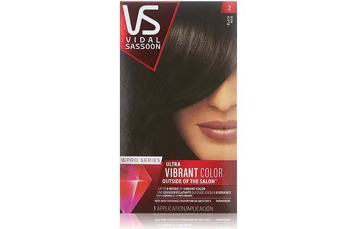 Black Hair Dyes - Vidal Sassoon Pro Series Ultra Vibrant Color – 2 Black