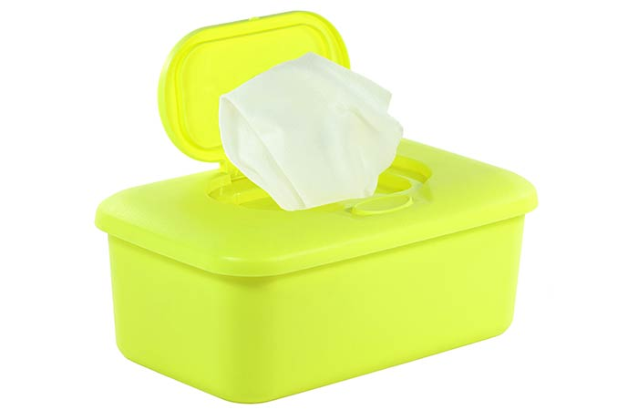 8. With Baby Wipes