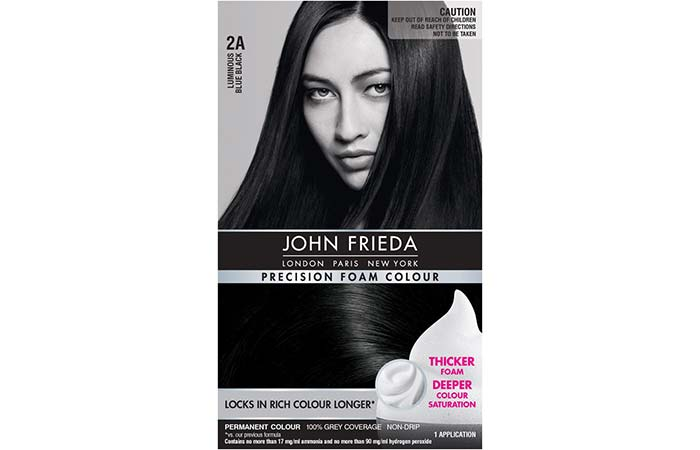 Black Hair Dyes John Frieda Precision Foam Colour 2a Luminous Blue
