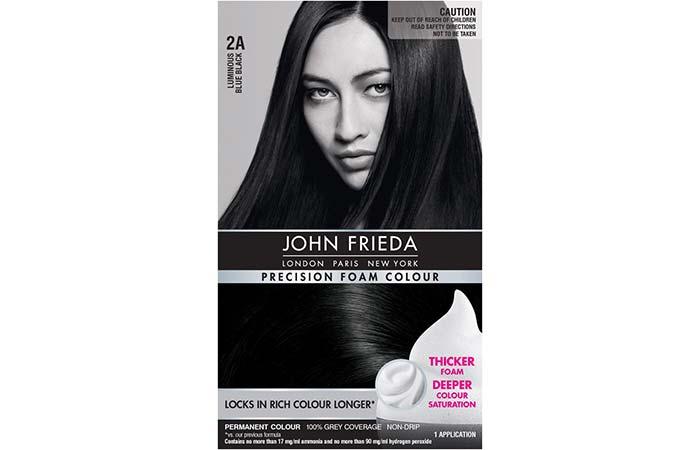 Black Hair Dyes - John Frieda Precision Foam Colour – 2A Luminous Blue Black