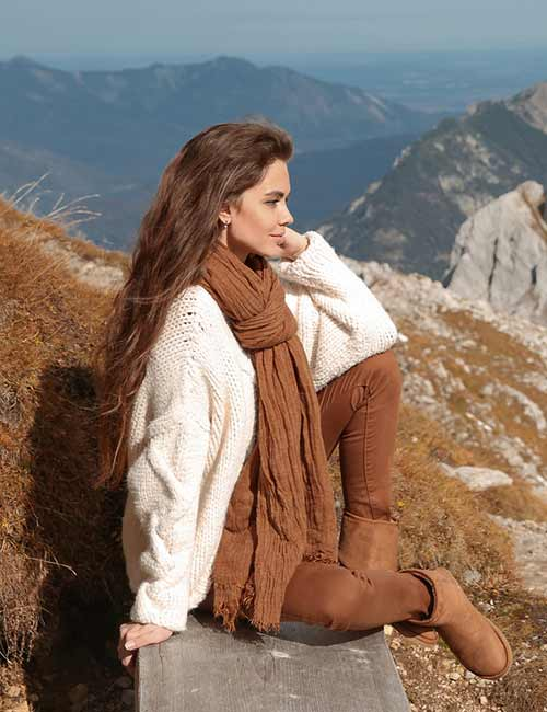 Colors That Go With Brown - Scarf