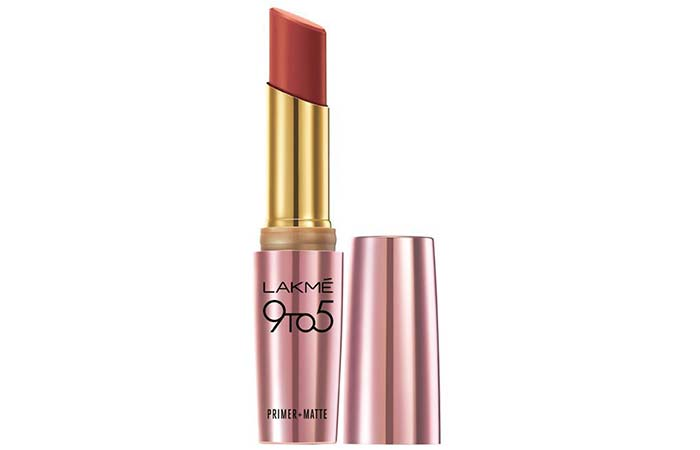 Lakme 9 To 5 Primer And Matte Lip Color Shades - Cherry Chic
