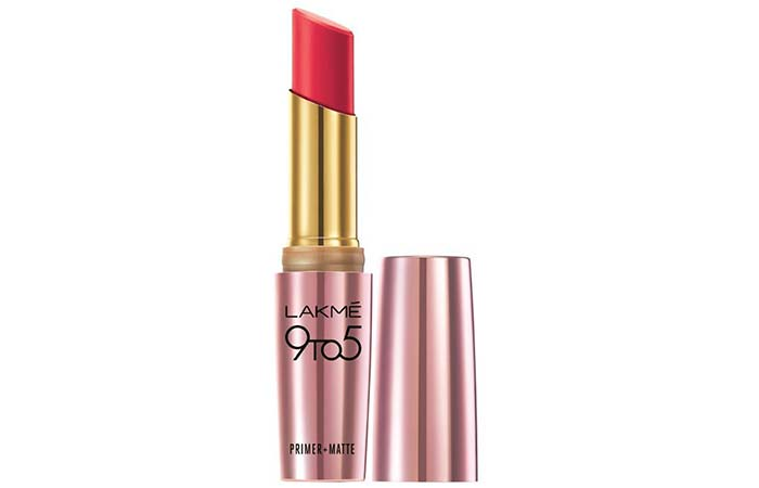 Lakme 9 To 5 Primer And Matte Lip Color Shades - Rosy Sunday