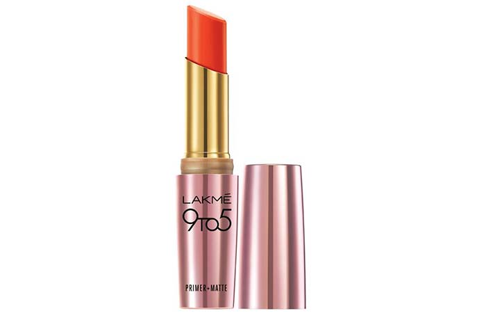 Lakme 9 To 5 Primer And Matte Lip Color Shades - Vermillion Fired