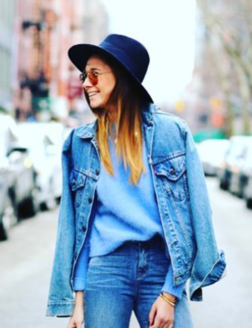 1. Front Tuck With A Full Denim Look