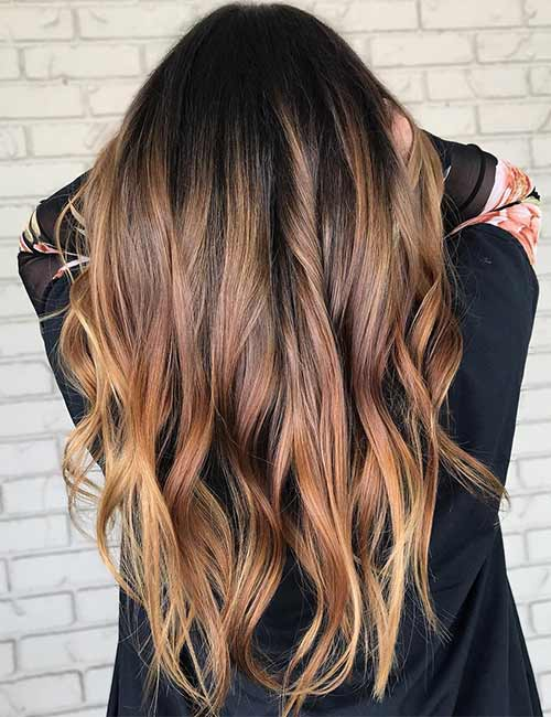 1. Golden Brown Hair Color