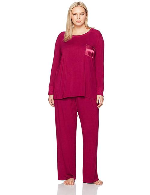 Best Women's Pajamas - Plus Size Long Sleeves Pajama Set