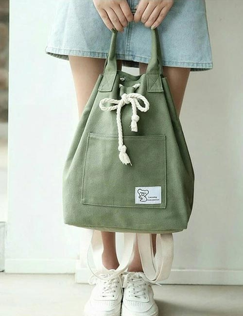 10. Soft Canvas Bag For Hiking