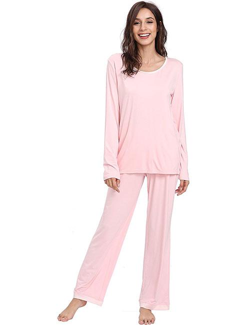 Best Women's Pajamas - Bamboo Long Sleeve Pajamas