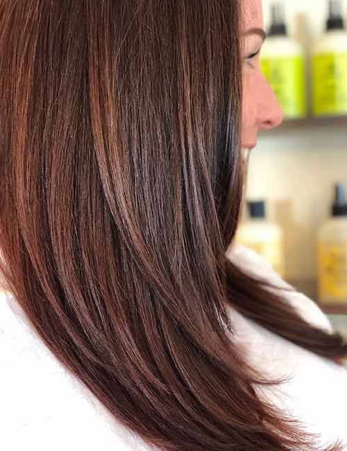 30 Best Shades Of Brown Hair - Reddish Brown Hair Color