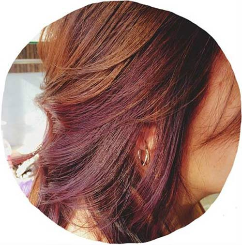 13. Chocolate Cherry Brown Hair Color