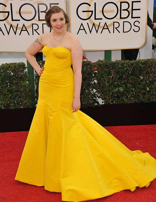 Short Female Celebrities - Lena Dunham