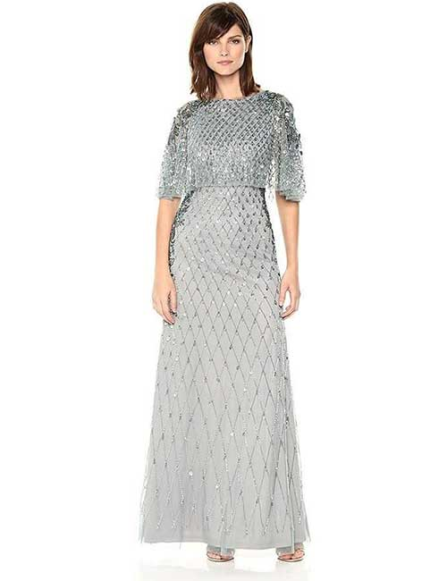 14. Long Beaded Dress