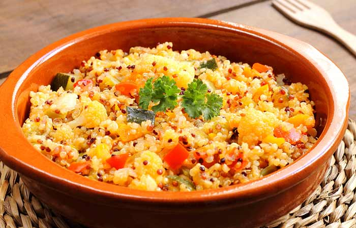 Healthy Breakfast - Blanched Cauliflower Quinoa