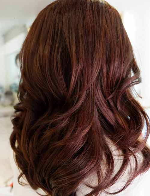 30 Best Shades Of Brown Hair Mahogany Color