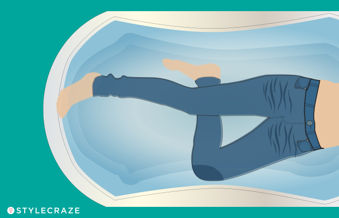 How To Stretch Out Tight Jeans - Water Bath
