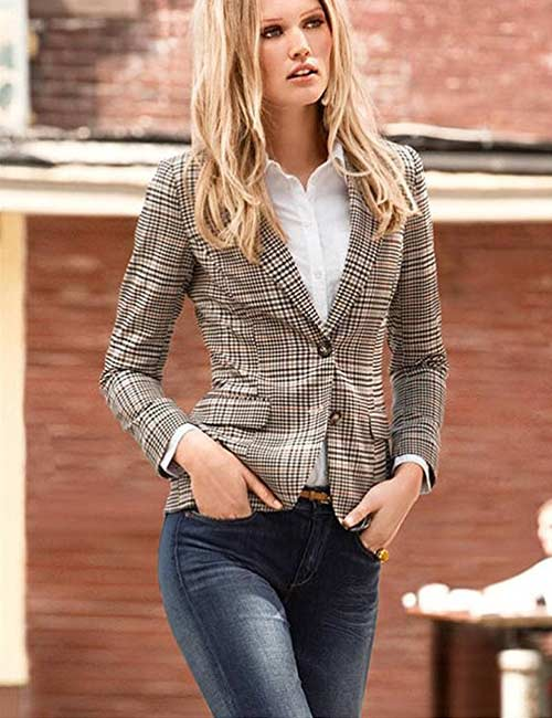 How To Wear A Blazer - Informal Blazer With Skinny JeansLeggings