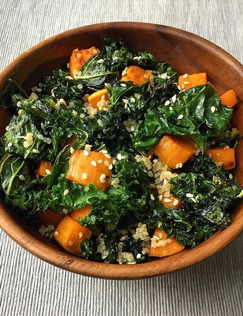 Melissa McCarthy Weight Loss - Kale And Quinoa Salad Dinner