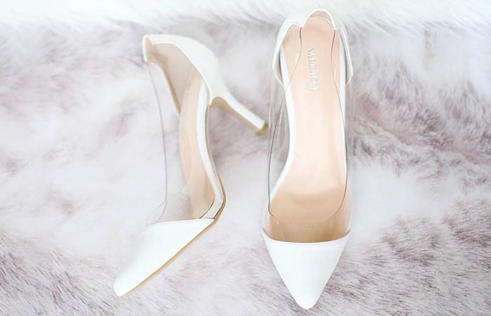 Bridal Wedding Shoes - Transparent White Shoes