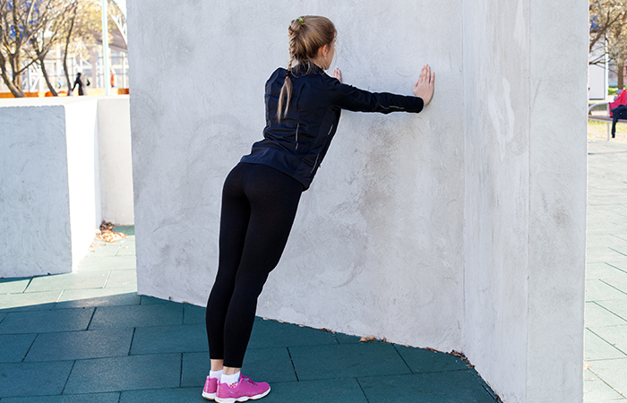 Armpit Fat - Wall Push-ups