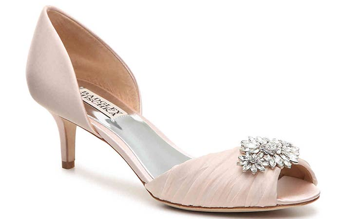Bridal Wedding Shoes - Embellished Low Heel Bridal