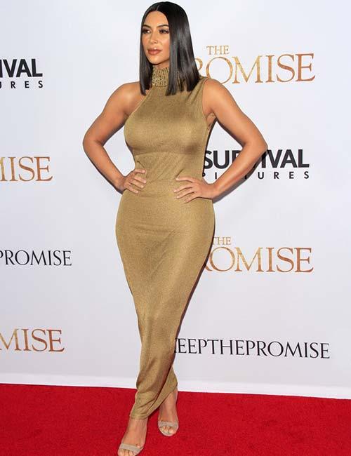 Short Female Celebrities - Kim Kardashian