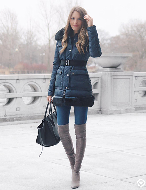 4. Knee High Boots And Skinnies