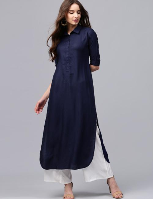 Latest Churidar Neck Designs - Collar Neck