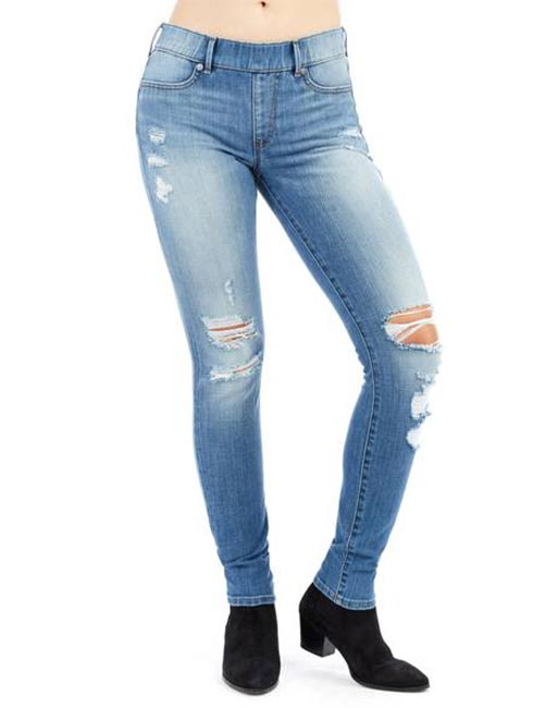 5. Skinny Distressed Jeans For Curvy Women