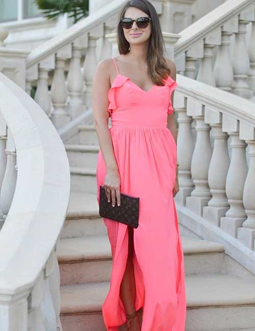 Beautiful Wedding Guest Dress Ideas - Maxi Dress For Fall Weddings