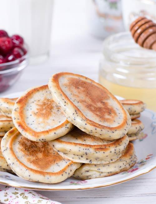 8. Chia Seed Banana Pancake