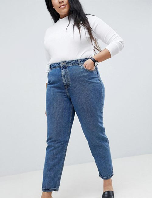 8. Mom Jeans For Curvy Women