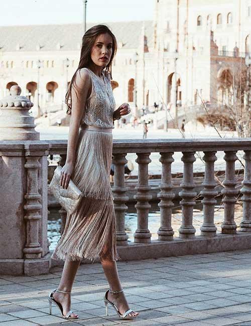 Beautiful Wedding Guest Dress Ideas - Rose Gold Bohemian Outfit