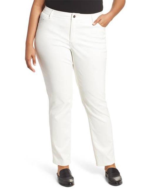 9. White Jeans For Full Figured Women