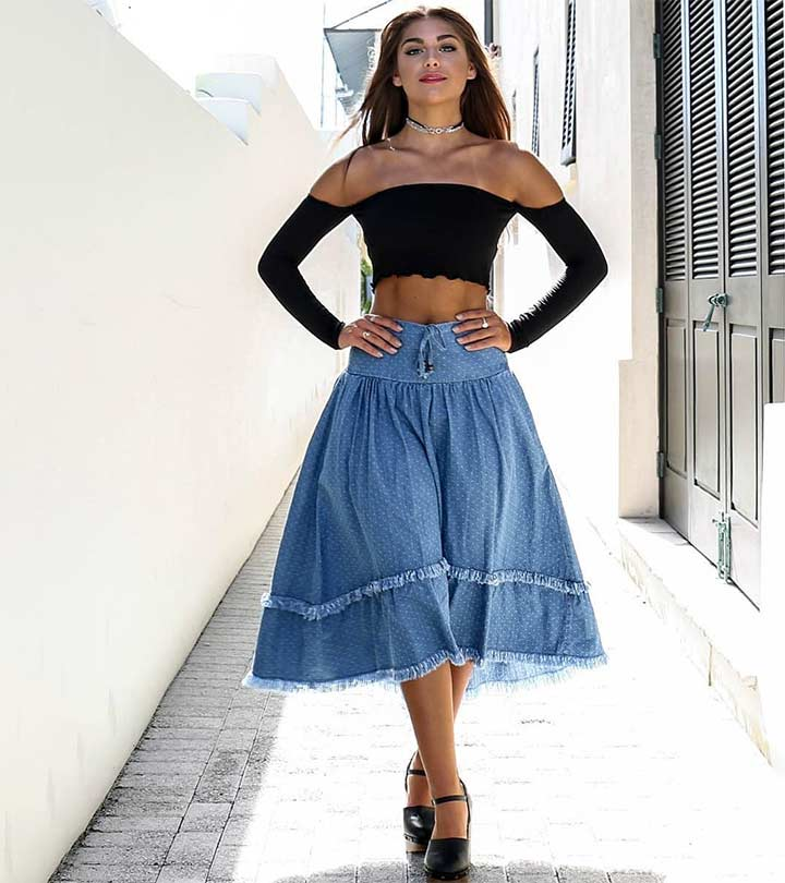 9529694a8f43 Cute Denim Skirt Outfit Ideas – 18 Different Ways To Style It