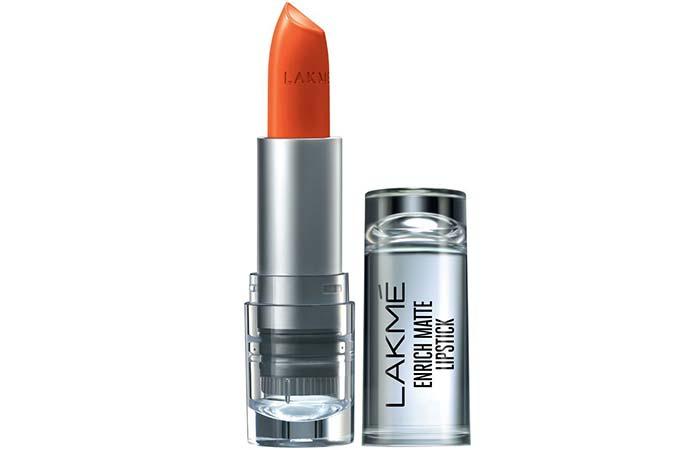Lakme Enrich Matte Lipstick, Shade OM 12