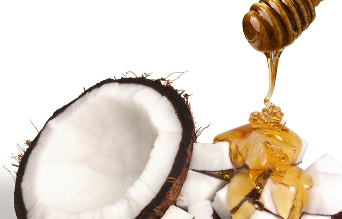 1. Coconut oil and face mask for oily skin
