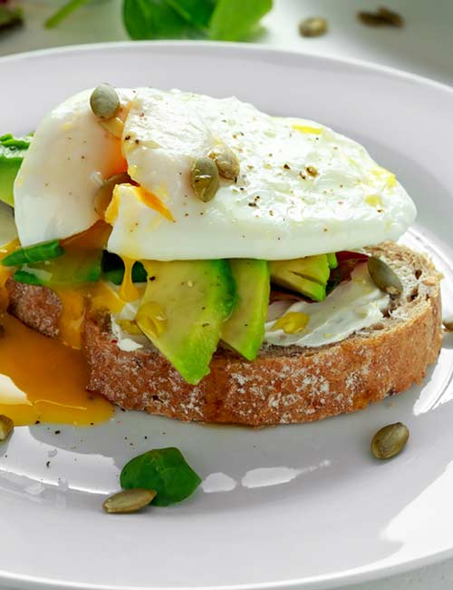 High-Protein Breakfast - Egg, Cheese, And Avocado Toast