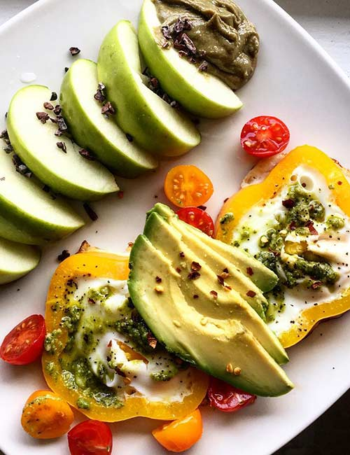 High-Protein Breakfast - Bell Pepper Egg With Avocado