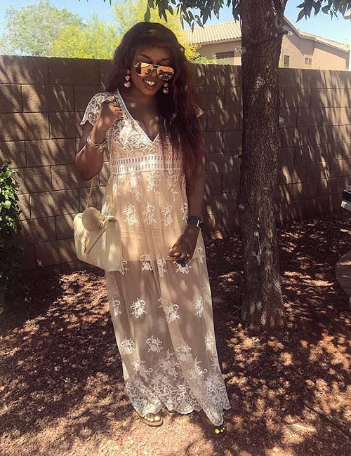 13. White Lace Dress