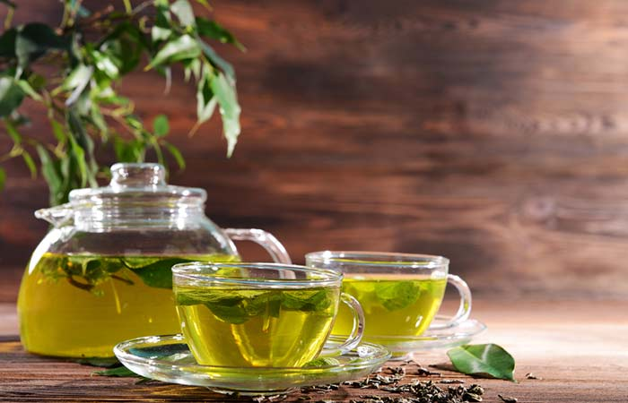 4. Green Tea </li> <li>  Shutterstock </li> <li>  Shutterstock </p> </div> <h5>  Shutterstock </li> <li>  Shutterstock </p> </div> <h5>  Shutterstock </p> </div> <h5>  Shutterstock </p> </div> <h5>  Allow the tea to cool for a while and then add some honey to it. </li> </ol> <h5>  How often do you need to do this </h5> <p>  You need to consume green tea 3 to 4 times a day. </p> <h5>  Why it works </h5> <p>  Green tea is another great medicine that helps reduce the size of your breasts by burning fat in them. It contains antioxidants that accelerate the metabolism of your body (<a href=