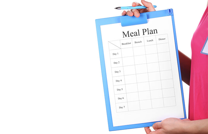 5. Write Down Your Meal Plan