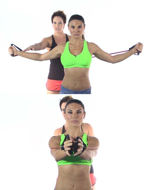 Best Full Body Resistance Band Exercises - Resistance Band Chest Fly