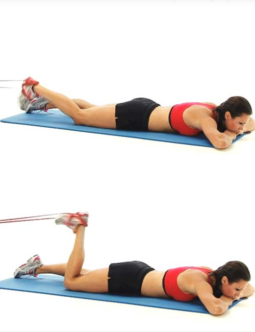 Best Full Body Resistance Band Exercises - Resistance Band Hamstring Curls