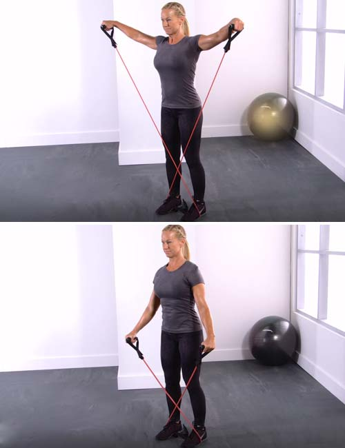 Best Full Body Resistance Band Exercises - Resistance Band Lateral Raise