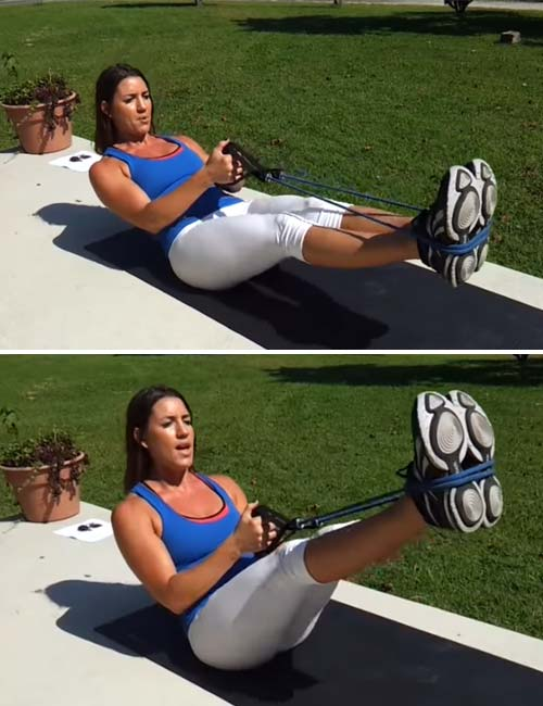 Best Full Body Resistance Band Exercises - Resistance Band Leg Lifts