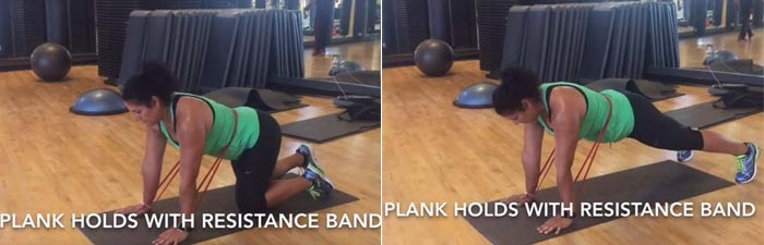 Resistance Band Plank Hold