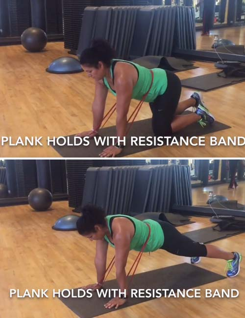 Resistance Band Plank Hold </h3> <div id=