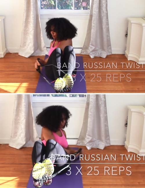 Resistance Band Russian Twist