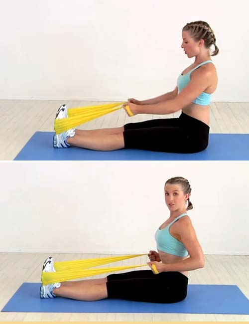 Best Full Body Resistance Band Exercises - Resistance Band Seated Row